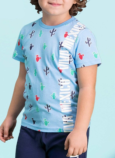Roly Poly Rolypoly Viva Mexico Erkek Çocuk Bermuda Takım Mavi